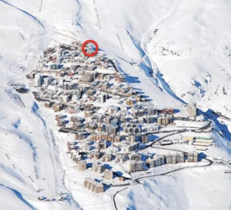 Mapa del centro de ski