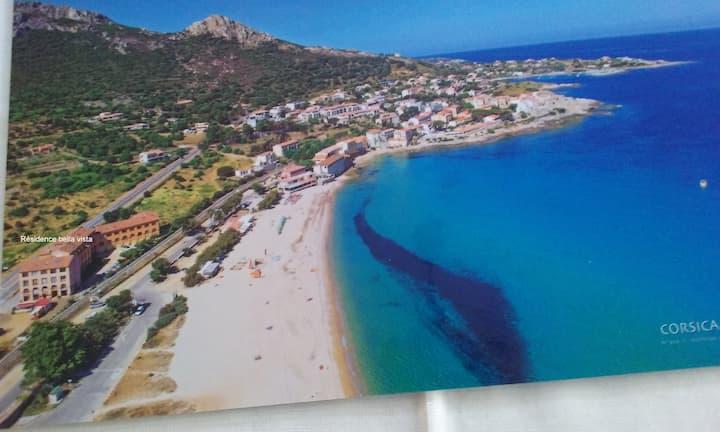 Algajola Studio climatisé à 30m de la plage 4 pers
