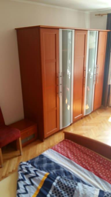 Lockers in bedroom