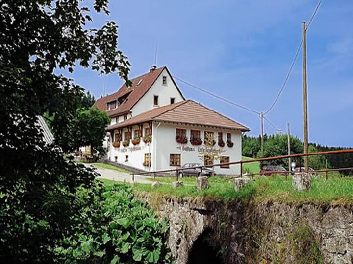 Gasthaus Löffelschmiede, (Lenzkirch), Einzelzimmer mit Dusche und WC