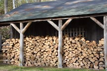 Free firewood for the fireplace.