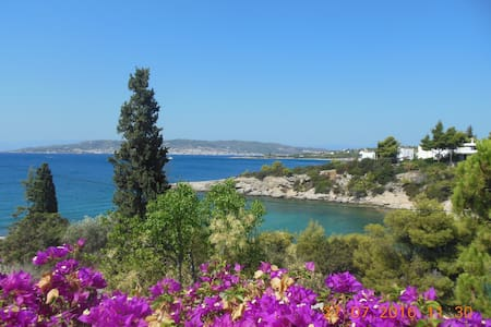 Idyllic villa on a bay, rent whole house or apt 1) - Aghios Emilianos - Ev
