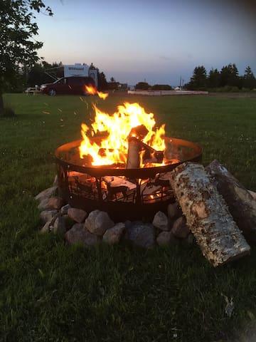 communal camp fire