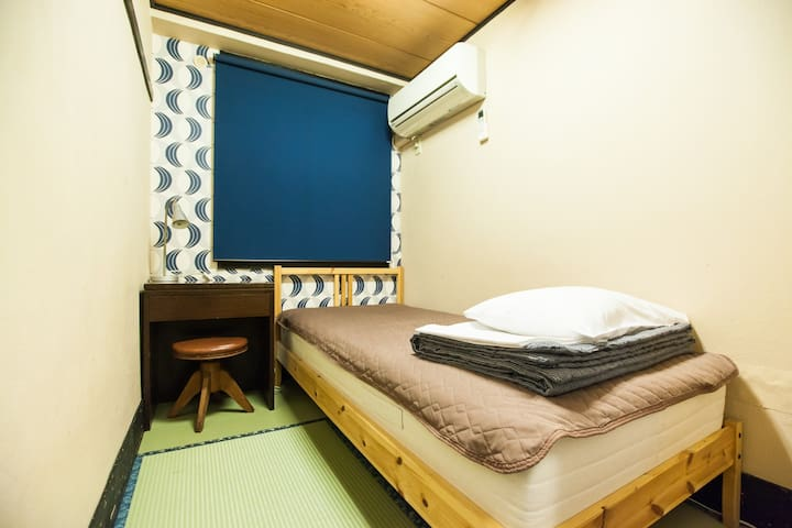【2 mins walk from 北品川 St.】Single bed room (4㎡) ,Free WiFi !!