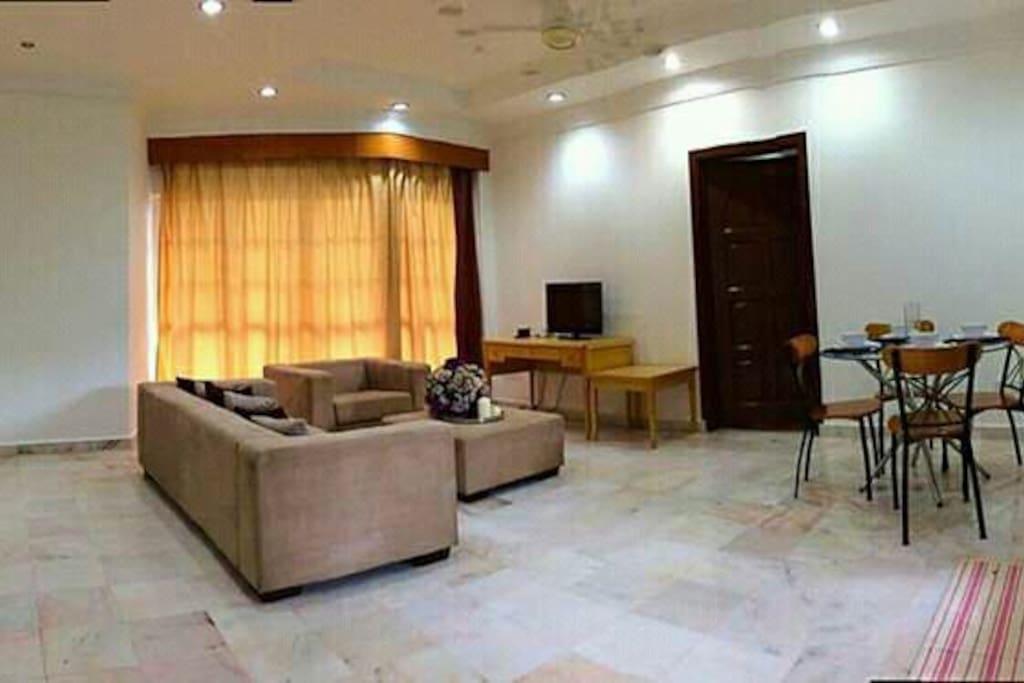 Hall with comfy sofa