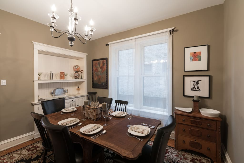 Formal Dining Room With Seating For Eight