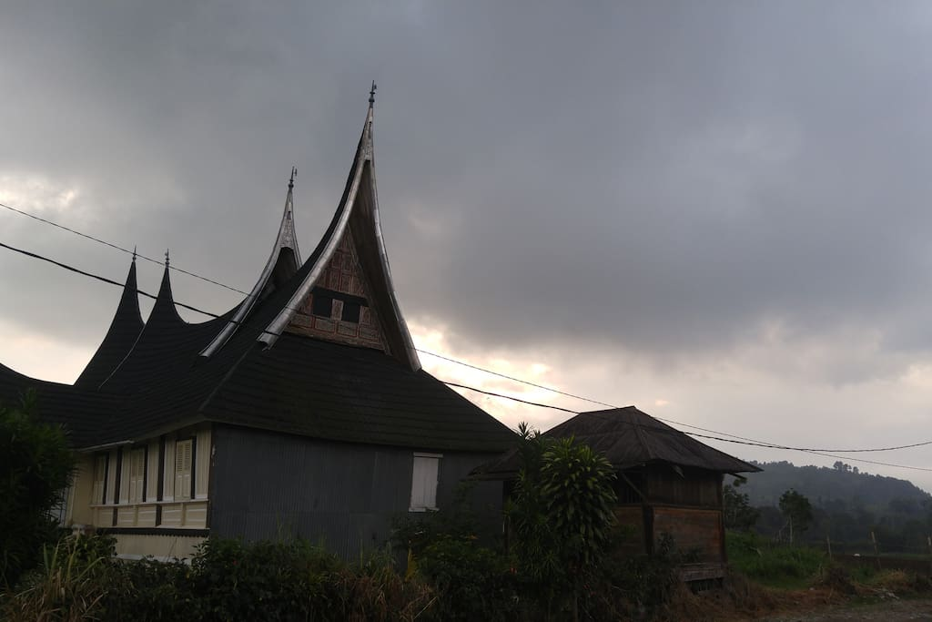 Rumah Gadang, available to visit, right in the front of the house.