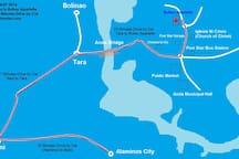 Map to Rullan Apartelle
