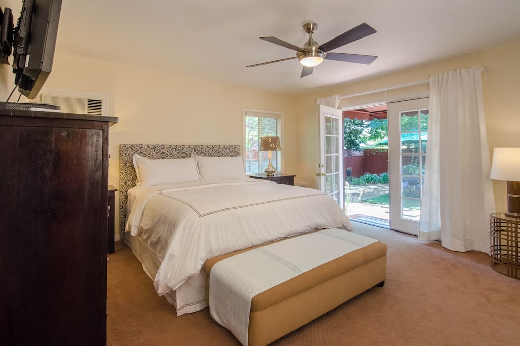 Master Bedroom opens to private backyard