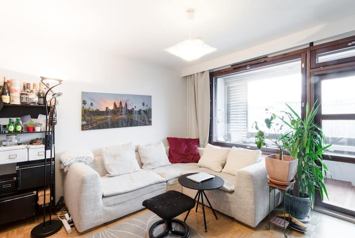 Studio apt in the city center with balcony & view