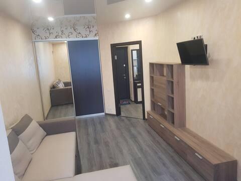 Уютная большая квартира совсем удобствами.
