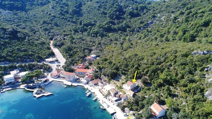 Apartments Belin Mljet - Studio Apartment with Terrace and Sea View