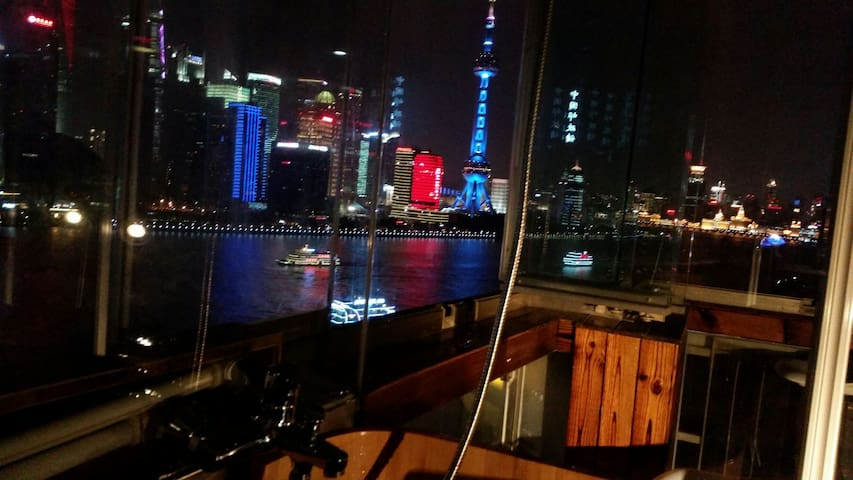 Nice River View Bathtub Balcony Suite Room - Shanghai - Appartement