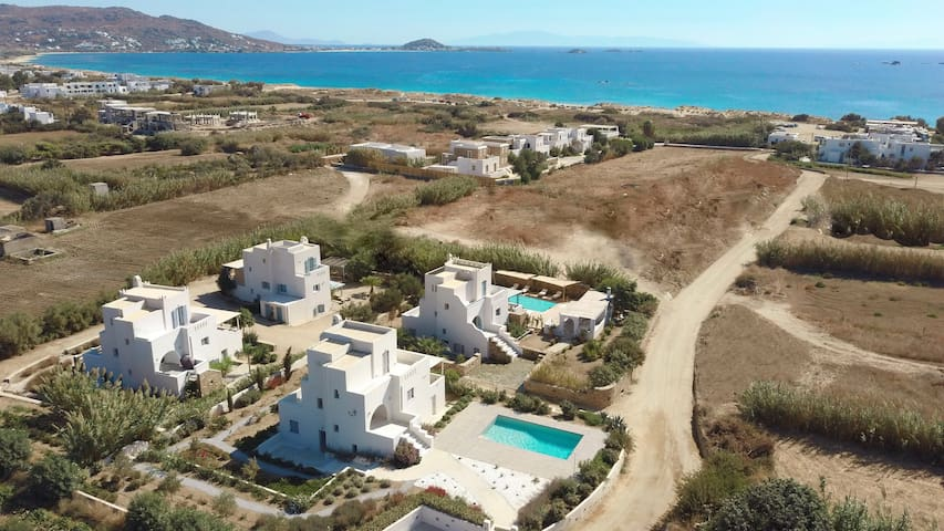 Aerial view of Seaside Naxos complex