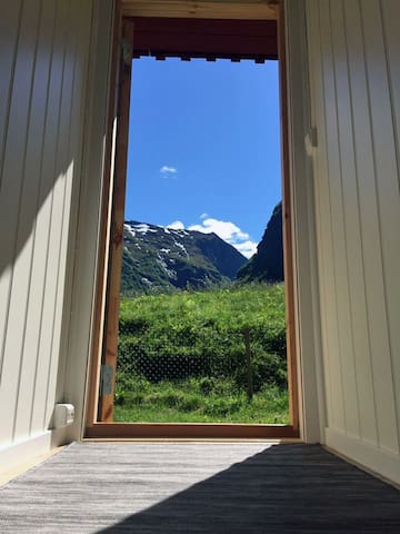 Undredal Valley outlook from the cabin.