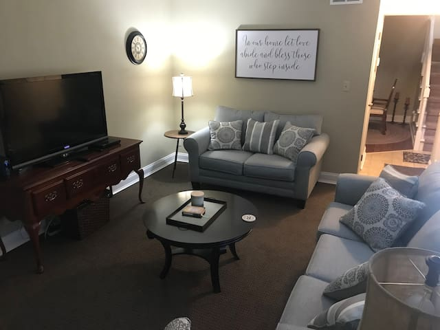 Living room with love seat