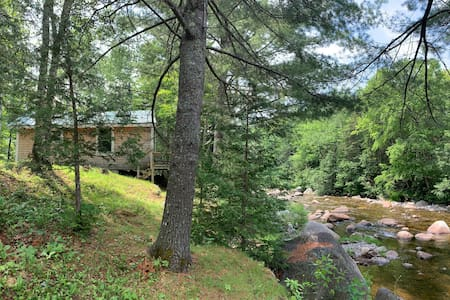 Stream-side mountain retreat