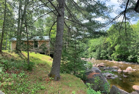 Stream-side mountain retreat