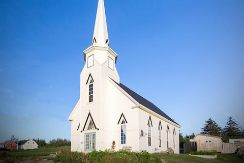 The Church of Painted Sunsets on the Bay of Fundy