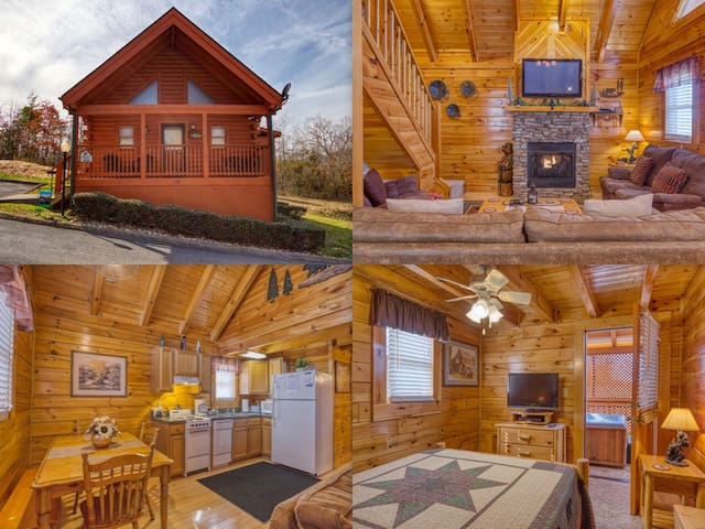 2b2b Cozy Cabin-Walking distance to Parkway!