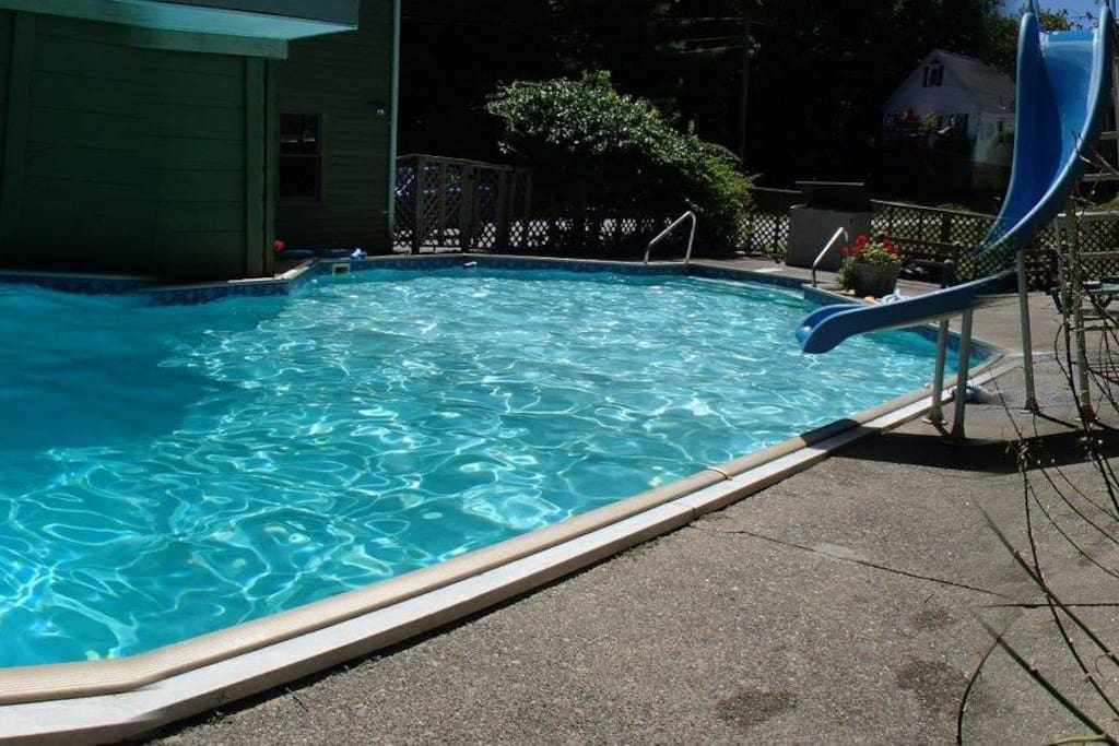 The pool is available during summer months.