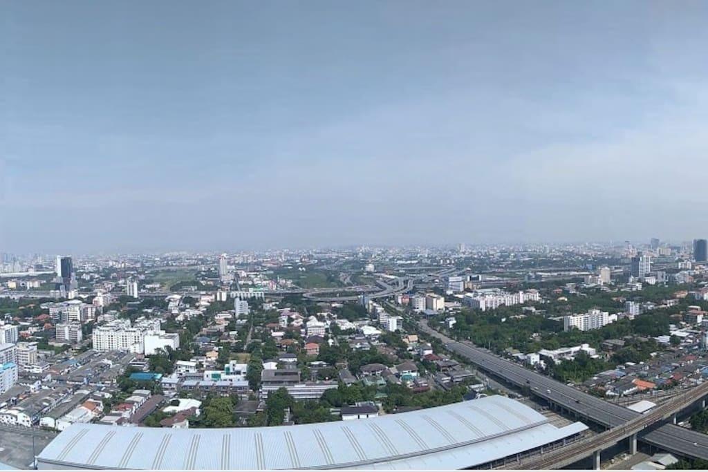 Enjoy panoramic view of Bangkok