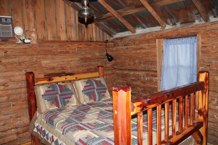 Inside Russ Noah Log Cabin