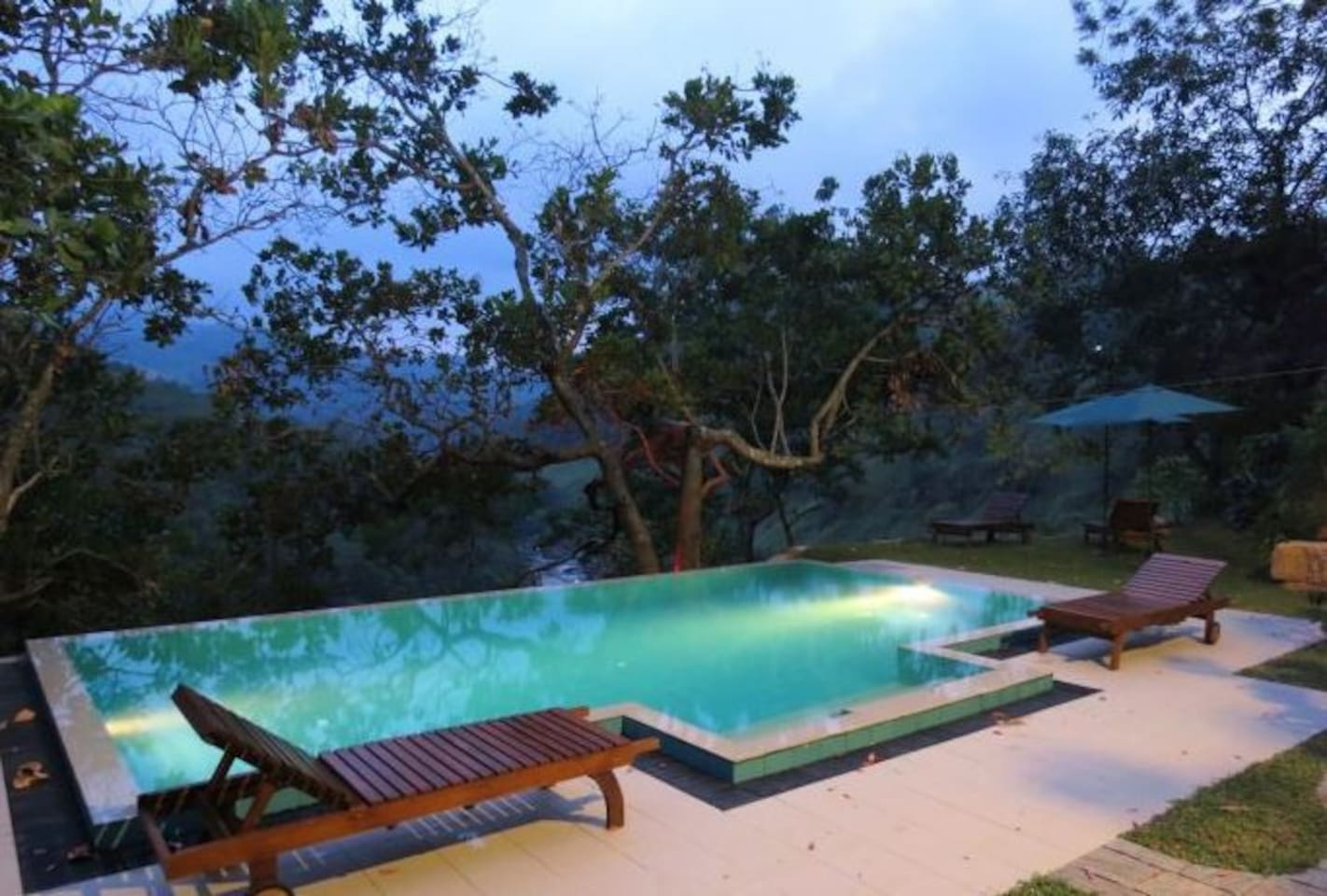 Pool area during dusk