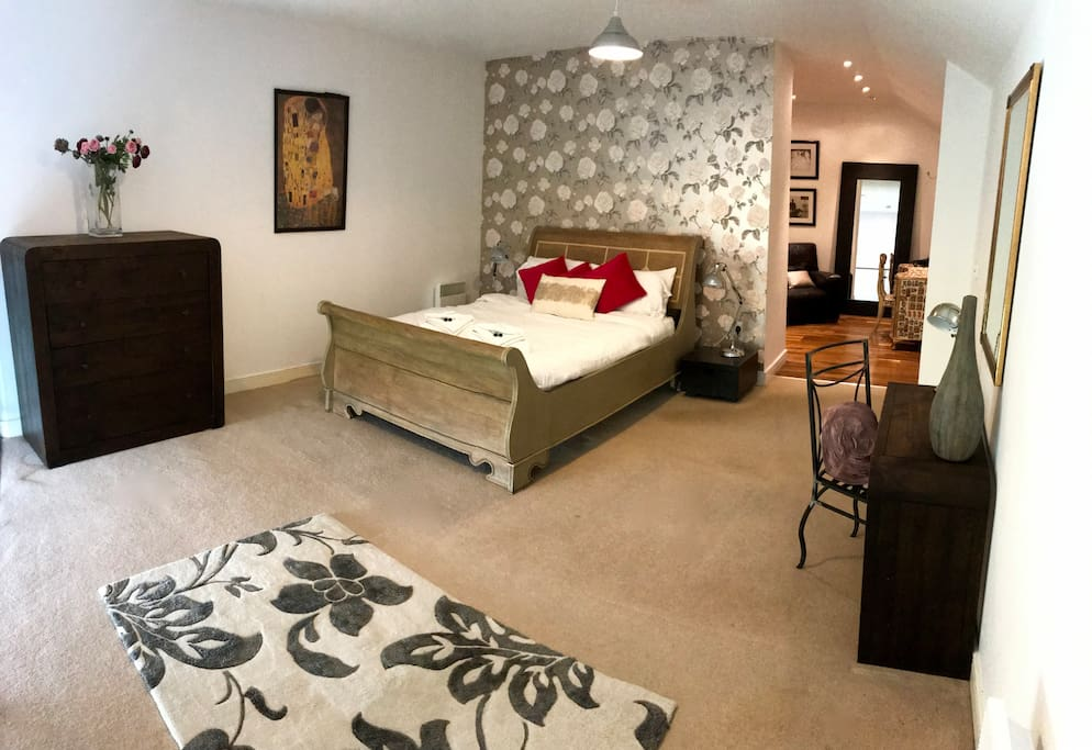 Master bedroom and dressing room