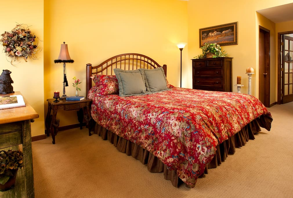 Three bedrooms provide plenty of bedding options for the whole group.