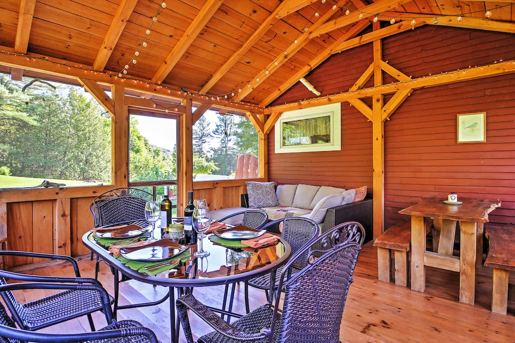 You'll love spending hours in the 16x16 screened-in porch.