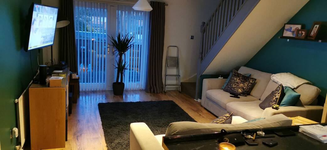 Private double room, shared spacious living area