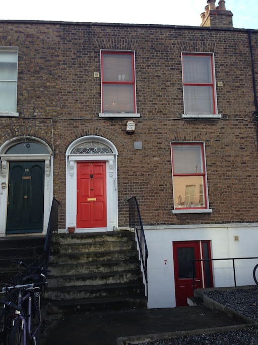 Front view of our house, 101 South Circular Road, Leondards Corner, Dublin 8. See our Georgian Red Door.