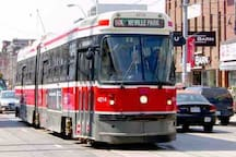 Public transportation - This 501 streetcar is 2 minutes walk from the building entrance. It takes you anywhere in the city. Get to the mall in 20 minutes, get to restaurants in less than 5 minutes. ($3.25 per ride)