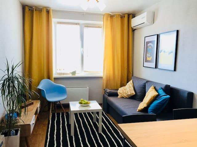Gray House - квартира с видом на Мамаев Курган