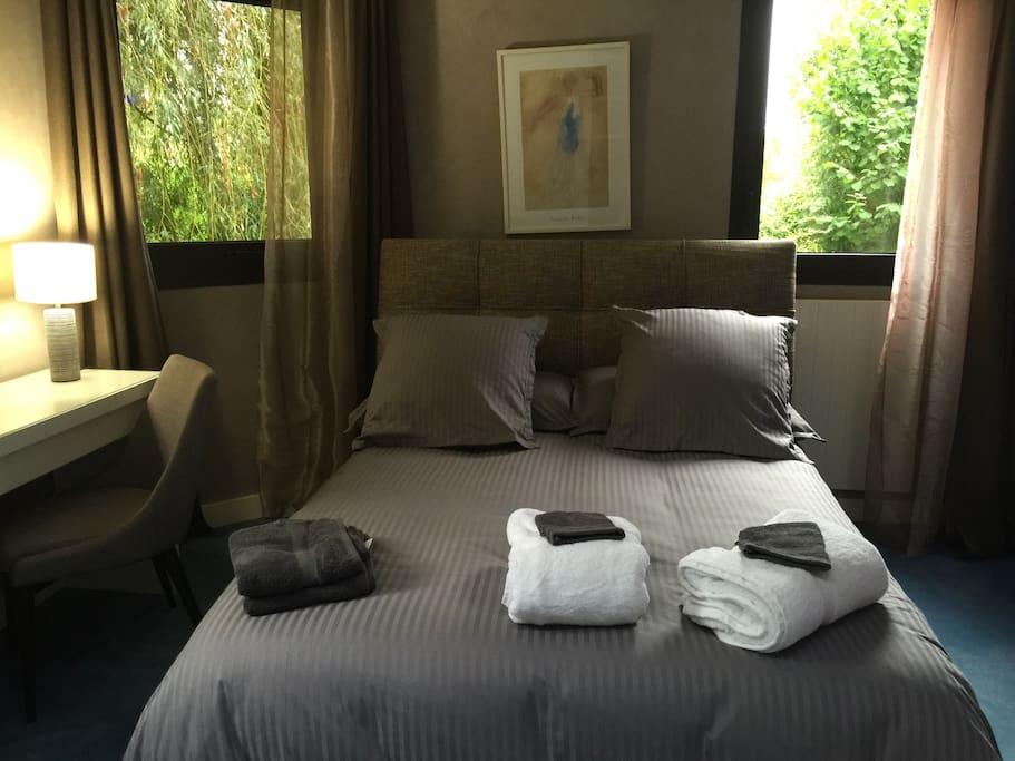 Chambre 1 avec salle de bains privée + télévision