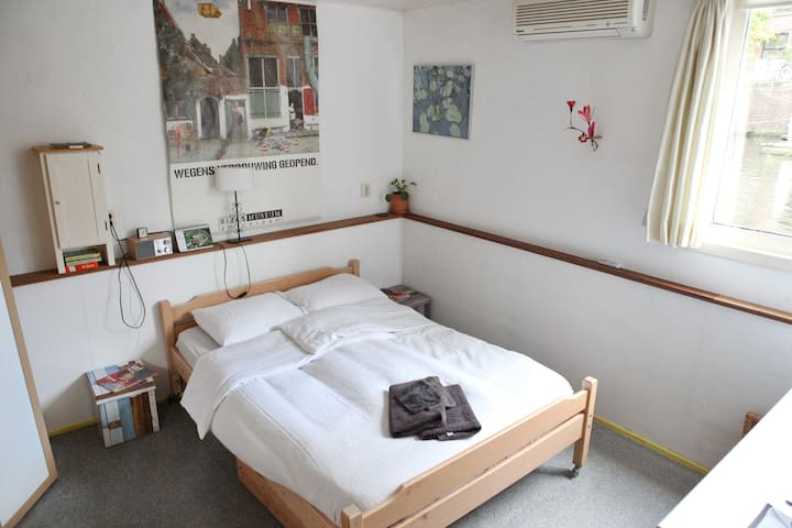 Nice room in Houseboat Canto - Amsterdam - Bateau