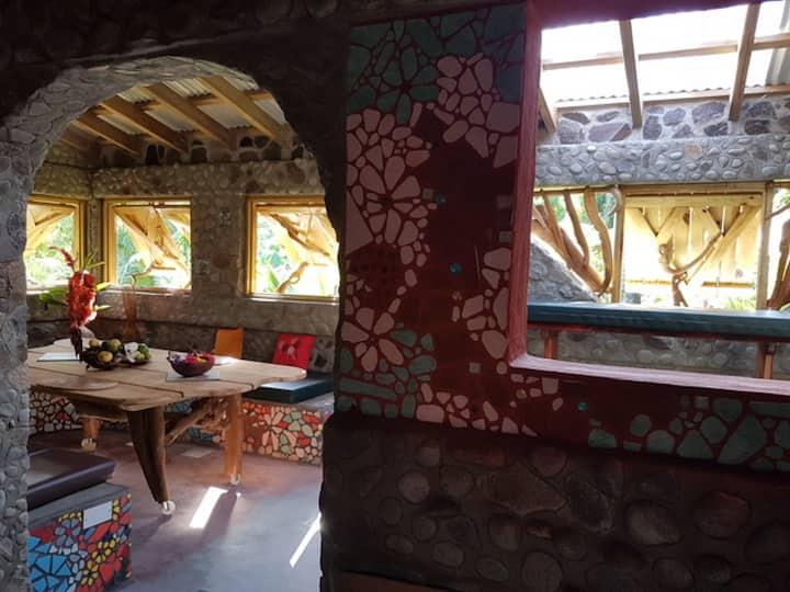 Vanil Vaness stone loft at CitrusCreekPlantation