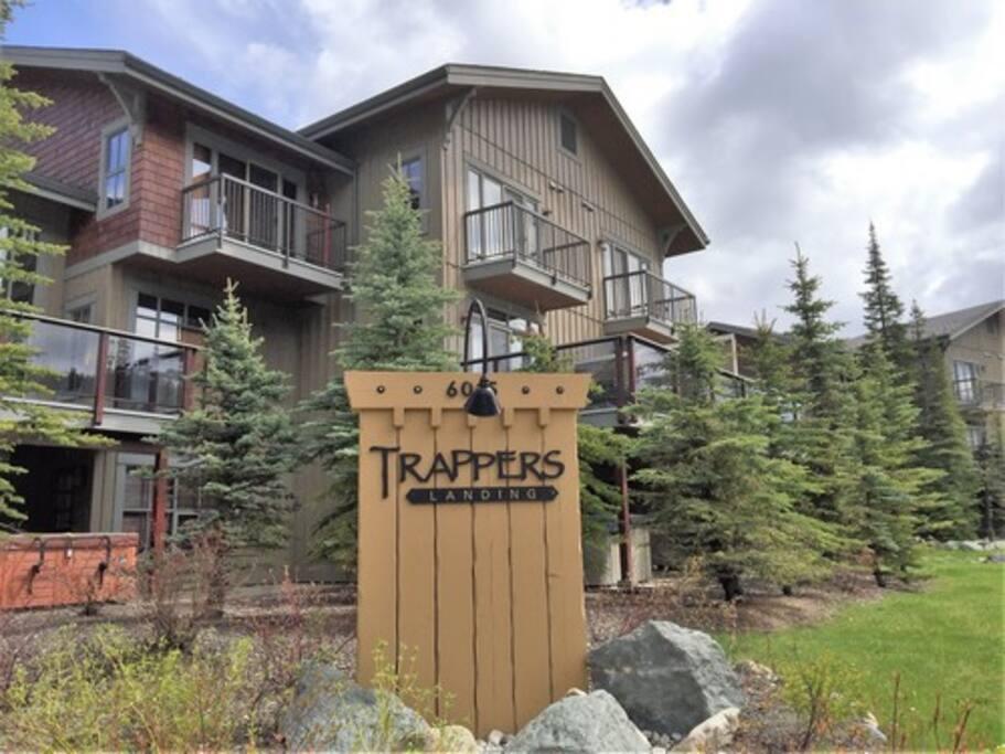 Street Presence of Trapper's Landing  luxury Sun Peaks townhouses