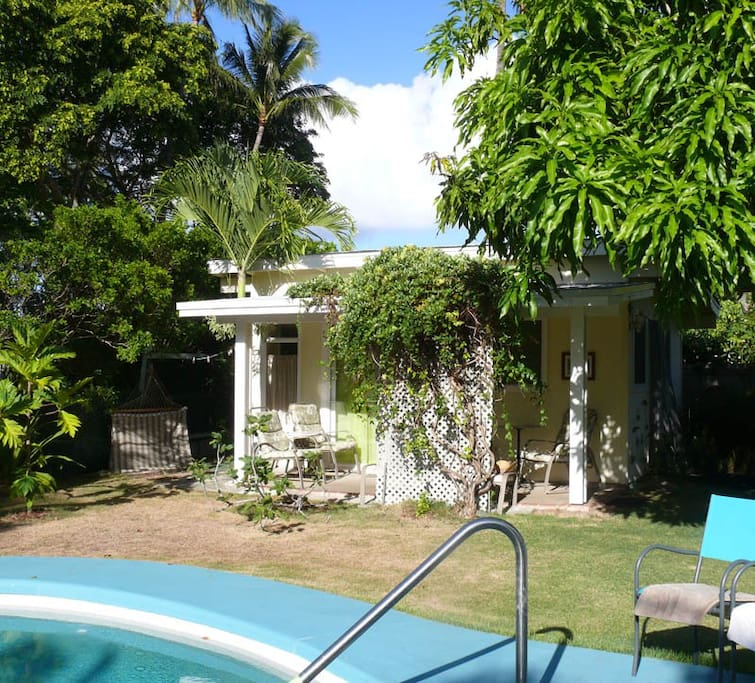 Artist Studio Overlooks Guest Cabin With Rooftop Garden: Bungalows For Rent In Kailua