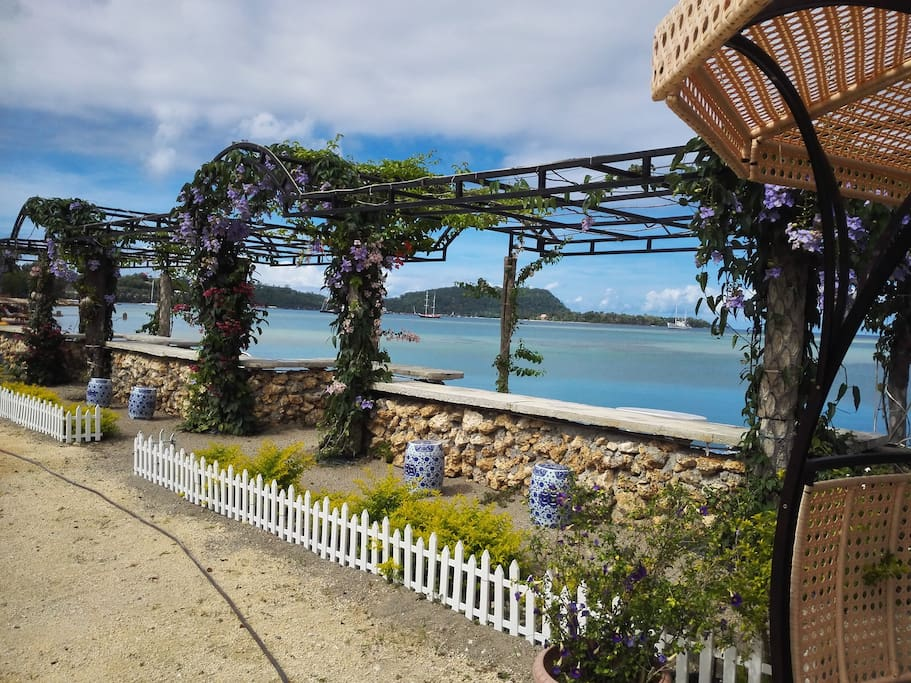Garden at seafront