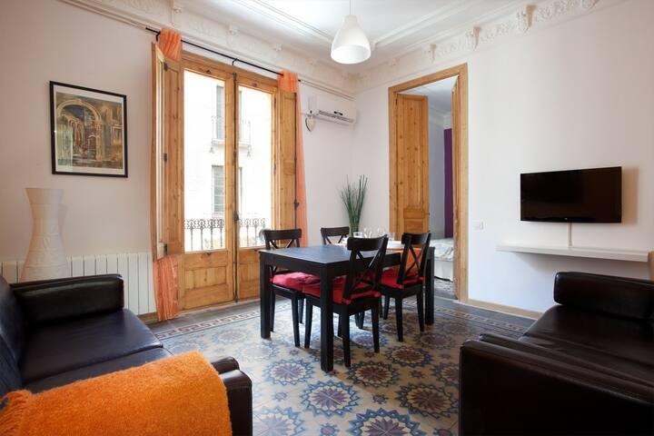 Gotic 1 para 8 personas en el Borne. - Barcelona - Apartment