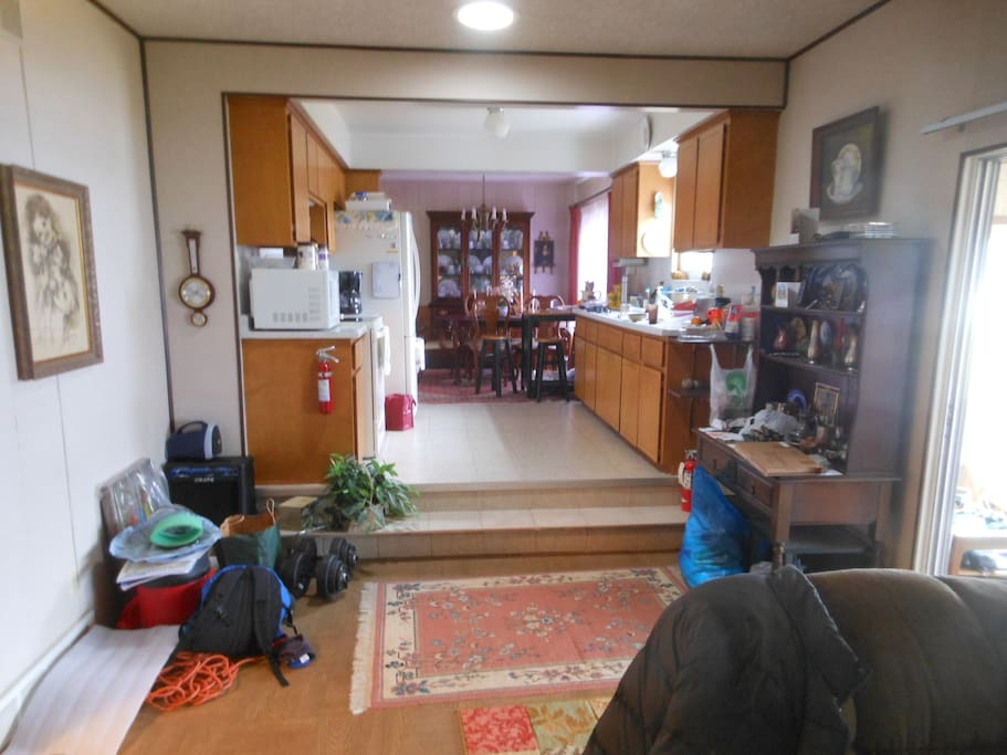 The kitchen towards the dining area.