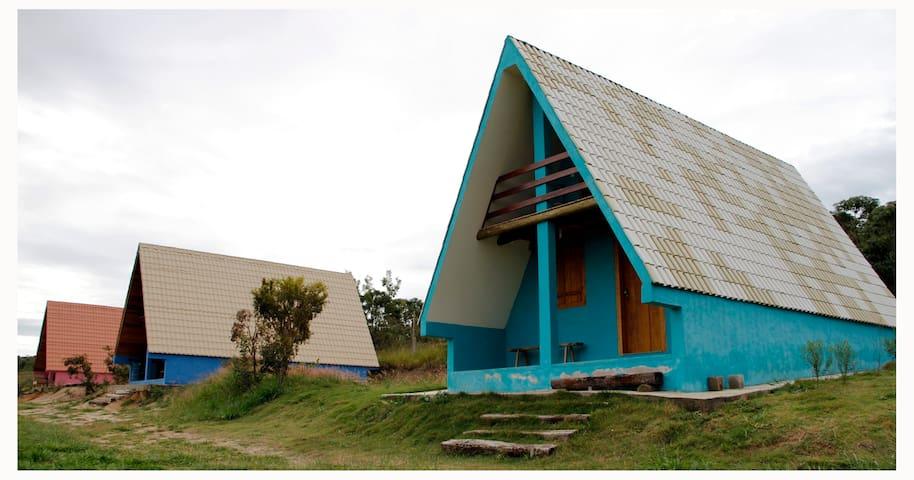 Chalé Solar da Ponte - Carrancas - Blockhütte