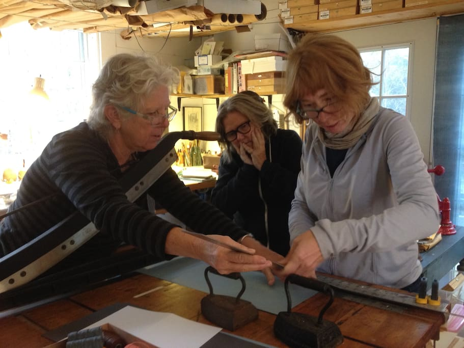 Take a bookbinding workshop at Still Water Bindery