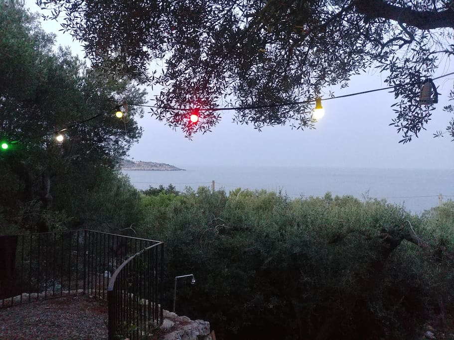 Evening view on the bay of Castro