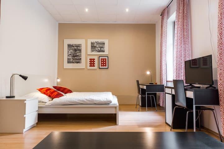 Moderní stylový pokoj pro 2 v Č. Budějovicích