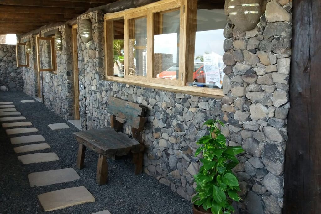 Eco Cabin patio