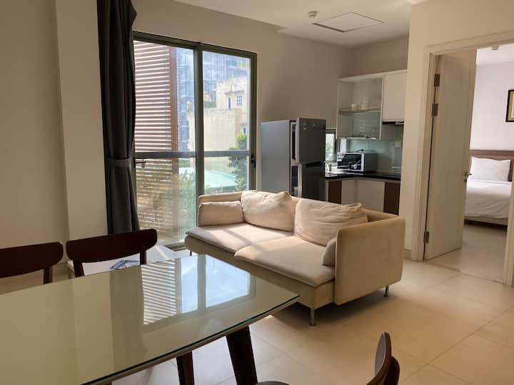 Nice 01 bed apt, full furnished in Thao Dien
