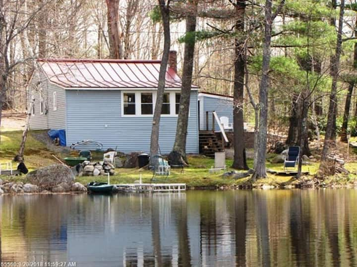 Hopkins Haven waterfront Maine cabin